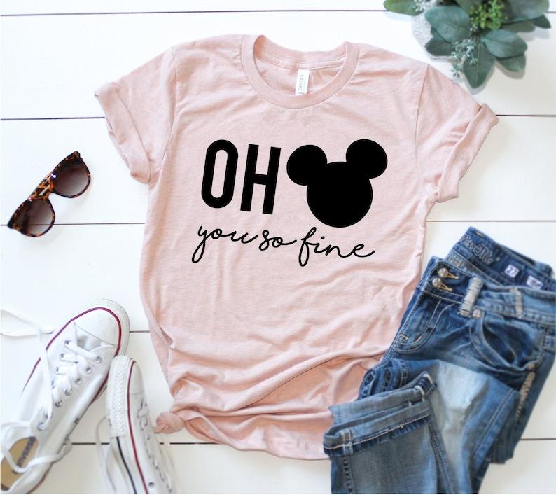 c9d506413 Oh Mickey You So Fine Shirt Mickey Mouse Tee Disney Shirt | Etsy