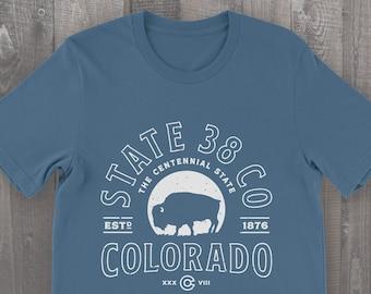 Colorado T-Shirt, State38 Bison