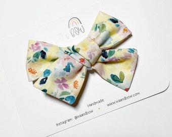 Summer Wash Floral Hair Bow Hair Bows for Girls Spring Hair Bows Headbands Baby Headbands Girls Gift Hair clips