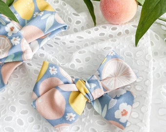 Little Citrus Hair Bow, Hair Bows for Girls, Headbands for Baby, Gifts for girls, Hair clips, Schoolgirl Bow, Tied Bow, Summer Bow