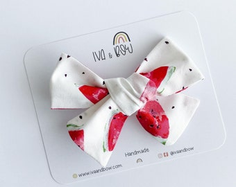 Watermelon Hair Bow, Hair Bows for Girls, Headbands for Baby, Gifts for girls, Hair clips, Schoolgirl Bow, Tied Bow, Summer Bow