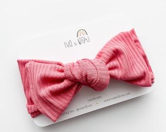 Rose Knotted Headband, Baby Headband, Head wrap for girls, Bow Head wraps, Baby Girl gift, Headband with Bow, Girl Gift