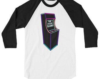 Arcade Video Game 3/4 sleeve raglan shirt baseball