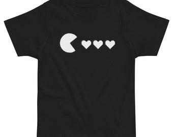 8Bit Heart Video Game Toddler jersey t-shirt