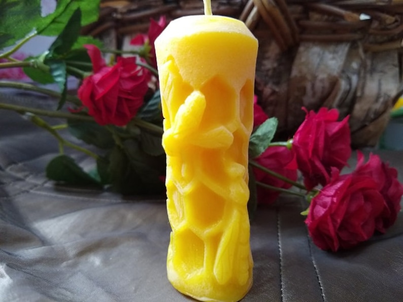 Perfect for allergy sufferers who love candles Organic renewable not chemicals natural air cleaner 100/% Pure Beeswax Candle