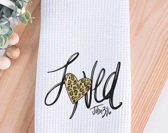 Loved John 3:16 Tea Towel