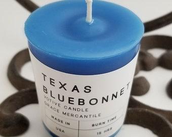 Votive Candles - Texas Bluebonnet - 4 PACK