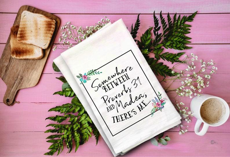 Madea Flour Sack Towel  Funny Tea Towel image 0