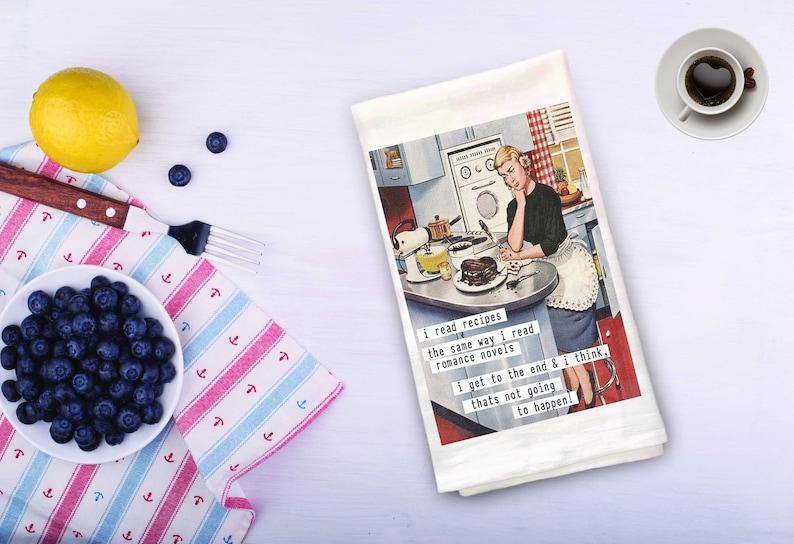 Tea Towel  Funny 50's Housewife image 0