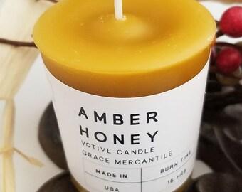 Votive Candles - Amber Honey - 4 PACK