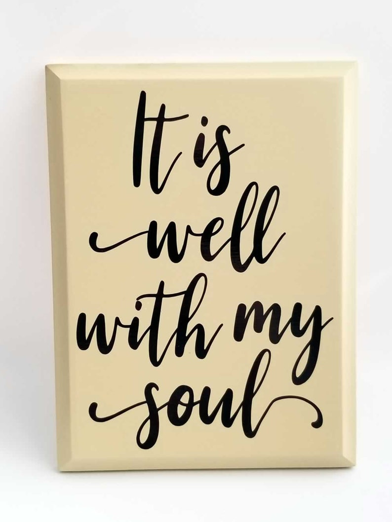 It Is Well With My Soul Wall Hanging Sign image 0