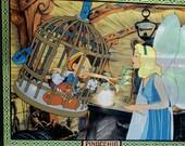 Vintage Walt Disney Aniglass By Grolier Glass Window Stain Painting PINOCCHIO