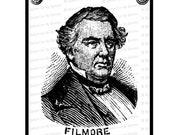 Digital President Millard Fillmore Victorian Portrait    Antique United States Presidential Vector Clipart   Instant Download