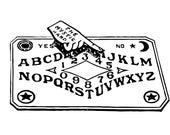 Vintage Spirit Board Vector Clipart   Talking Board Ouija Fortune-Telling Occult Mystic Psychomancy Halloween Instant Download SVG PNG JPG