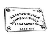Vintage Ouija Board Vector Clipart   Talking Board Fortune-Telling Occult Mystic Psychomancy Halloween Instant Download SVG PNG JPG