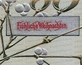 Digital Edwardian German Merry Christmas Postcard | 1906 Fröhliche Weihnachten Printable Instant Download JPG