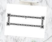 Vintage Knotwork Border Element | Antique Victorian Rectangular Knotted Fancywork Frame | Vector Clipart Rectangle, Knots SVG PNG JPG