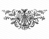 Vintage Victorian Human-Frog Hybrids Embellishment | Antique Ocean, Sea, Marine, Cryptozoology, Mythology Vector Clipart | SVG PNG JPG