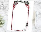 Vintage Daisy Border | Antique Edwardian Daisy Flowers Frame | Vector Floral Clip Art Instant Download SVG PNG JPG