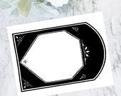 Digital Vintage Victorian Arched Frame | Vector Clipart Border Element | Instant Download SVG PNG JPG