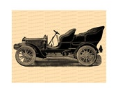 Digital Vintage Edwardian Car |  Antique Automobile Illustration Instant Download | Pope Motor Car Vector Clipart SVG PNG JPG