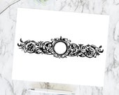 Vintage Floral Border | Antique Victorian Round Frame with Flowers and Leaves | Vector Instant Download SVG PNG JPG