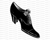 Digital Vintage Edwardian Ladies Shoe | Antique Woman's Shoe Instant Download SVG PNG JPG