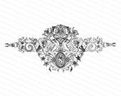 Vintage Victorian Winged Lions with Women Ornate Embellishment | Lamassu, Cryptozoology Mythological Creatures Vector Clipart | SVG PNG JPG