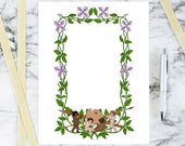 Floral Clematis Color Border with Artist Cherubs | Printable Valentine's Arts Frame | Vector Flowers, Palette, Brush, Pencil SVG PNG JPG