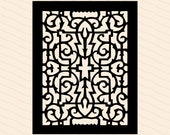 Vintage Victorian Rectangular Ornate Cast Iron | 1880s Antique Filigree Pattern Vector Clipart | Digital Download SVG PNG JPG