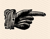 Vintage Victorian Hand with Pointing Finger | 1880s Antique Hand Vector Clipart | Instant Digital Download SVG PNG JPG