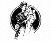 Vintage Edwardian Mother and Child | Mother and Baby | Vector Clipart Instant Digital Download SVG PNG JPG