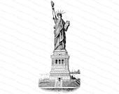Victorian Statue of Liberty |  American Patriotic U.S.A. Lady Liberty | United States Vector Clip Art SVG PNG JPG Digital