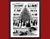 Printable Victorian Christmas Joys Wall Art | Victorian Christmas Decor | Vintage Christmas Illustration Instant Download