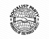 Socialist Party | 1904 Socialism Vector Clipart | Workers of the World Unite Globe Handshake Solidarity | Digital Download SVG PNG JPG