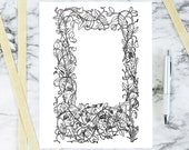 Vintage Floral Sweetpea Border with Cupids and Hearts | Antique Valentine's Frame | Vector Romantic, Flowers, Hearts, Bow, Arrow SVG PNG JPG
