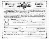 Vintage Victorian Marriage License Vector Clipart | Antique Wedding Romantic Printable PNG JPG SVG