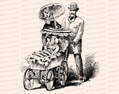 Victorian Family Clipart | Vintage Antique Mother and Father with Baby in Carriage | Vector Clip Art Instant Download SVG PNG JPG