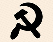 Edwardian Hammer and Sickle | Early 1900s Communist Vector Clipart | Workers Solidarity Revolution Leftist Communism | Download SVG PNG JPG