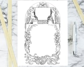 Vintage Floral Border with Cherubs | Antique Valentine's Frame | Victorian Vector Romantic, Flowers, Wedding SVG PNG JPG