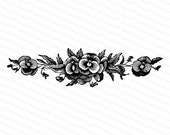 Victorian Pansies | Antique Vintage 1880s Pansy Flower Embellishment | Vintage Floral Viola Vector Clip Art Instant Download PNG JPG SVG