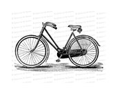 Digital Vintage Victorian Bicycle |  Antique Bike Illustration Instant Download | Cycling Vector Clipart SVG PNG JPG