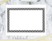 Vintage Art Nouveau Border Element | Antique Rectangular Frame Decorative Element | Vector Geometric Curves Download SVG PNG JPG