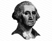 Digital President George Washington Victorian Portrait |  Antique United States Presidential Vector Clipart | Instant Download