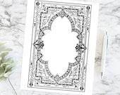 Vintage Ornate Victorian Border | Antique Decorative Frame | Fancy Vector Clipart SVG PNG JPG