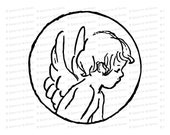 Vintage Edwardian Cupid  | Antique Valentine's Day Clipart | Vector Romantic Cherub SVG PNG JPG