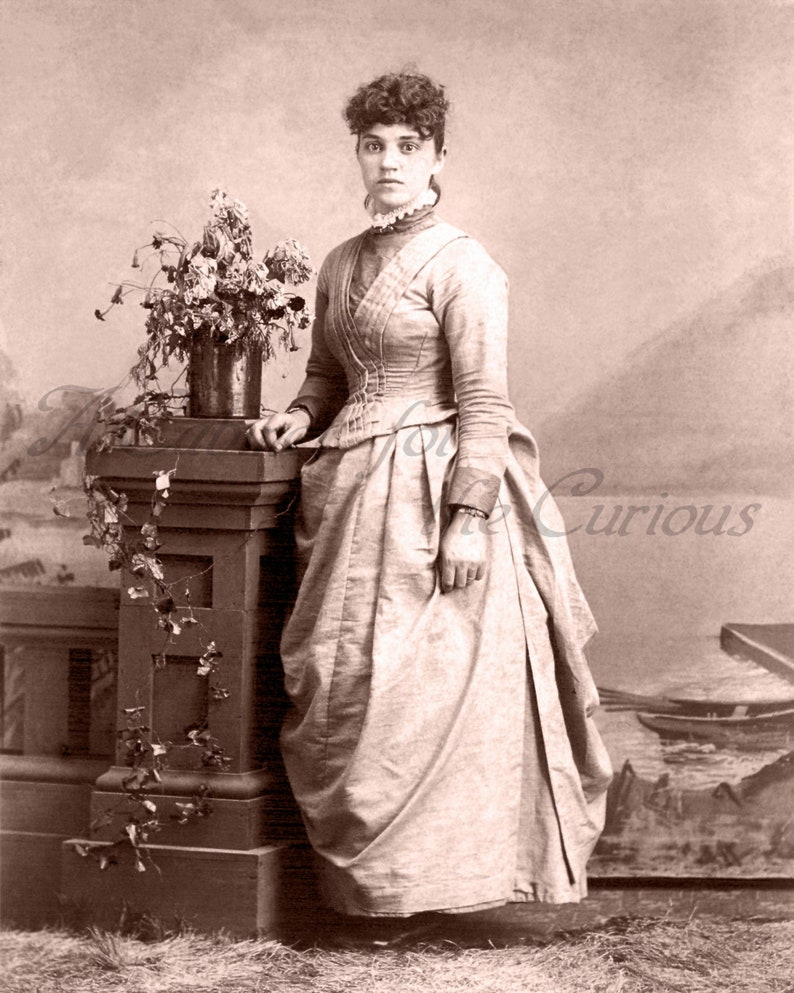 Antique Photo DOWNLOAD  Beautiful Young Victorian Woman in image 0