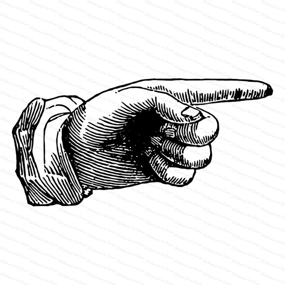 vintage victorian hand with pointing finger 1870s antique etsy vintage victorian hand with pointing finger 1870s antique hand vector clipart instant digital download svg png jpg