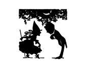 Digital Vintage 1920s Bowing Halloween Silhouette Couple Vector Clipart  Cute Halloween Party Romantic Witch Instant Download SVG PNG JPG