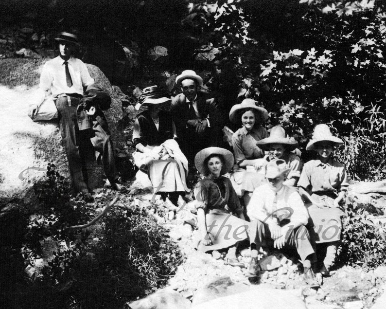 Antique Photo DOWNLOAD  Vintage Cowgirls Hiking Group hats image 0